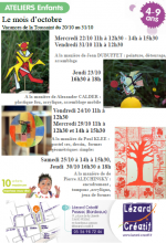 2014-10 Programme Ateliers Enfants Vacances Toussaint