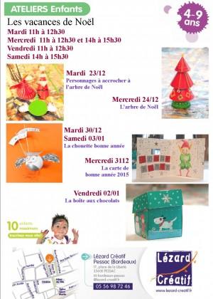 2014-12 Programme Ateliers Enfants – vancances noel