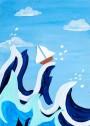 art créatif mer déchainée