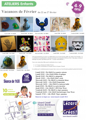 2016-02 Programme Ateliers Enfants vacances – 2