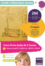 2016-07 Cours thématique croquis en exterieur