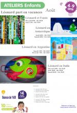 2016-08 Programme Ateliers Enfants vacances