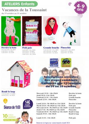 2016-10 Programme Ateliers Enfants vacances