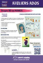 2018-07 Programme stages ado BD MANGA