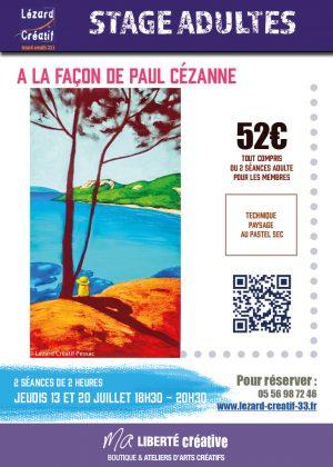 2017-07 Stage paysage pastel sec Paul Cezanne