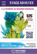2017-08 A la maniere du DOUANIER ROUSSEAU Aquarelle