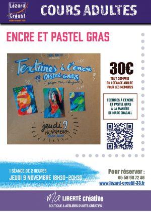 2017-11 Cours textures pastels gras encres