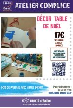 2017-11 Decor table noel complice