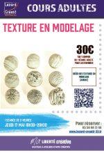2018-04 Textures en modelage