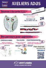 2018-08 Programme Ateliers Ados 27-08 au 31-08