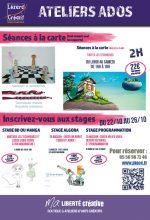 2018-10 Programme Ateliers Ados vacances
