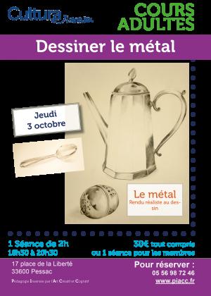 Ateliers adultes dessin metal