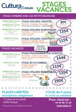 Stages Vacances Avril