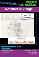 Ateliers decembre dessin Henri Matisse