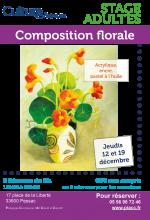 Ateliers decembre stage composition florale