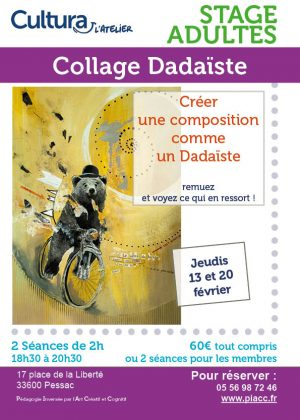 Ateliers adultes stage collage Dadaiste