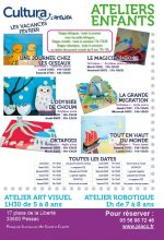 Ateliers enfants toiles filantes vacances