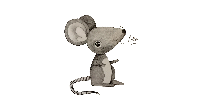 01 Dessiner une souris Hello
